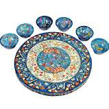 Peacocks Seder Plate